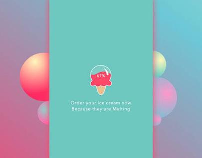 Ice cream app design