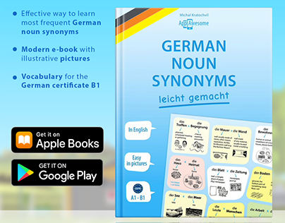Book design and Book design for German learning book