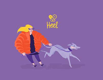 'Heel' Dog Walking App