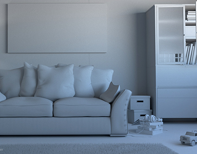 Boson sofa, interior scene...