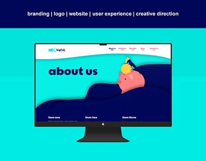 Big Fish Group Branding, Logo & Website