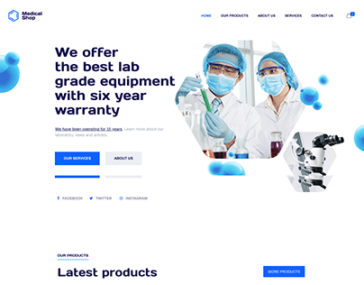 Medical Equipment Service - WORDPRESS Ecommerce website