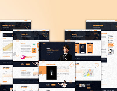 COSEC One Page Creative Agency PSD Template