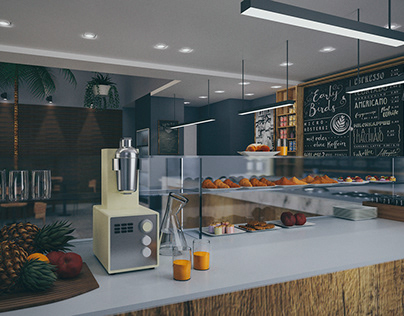 Cafe / Ice cream parlor - Render