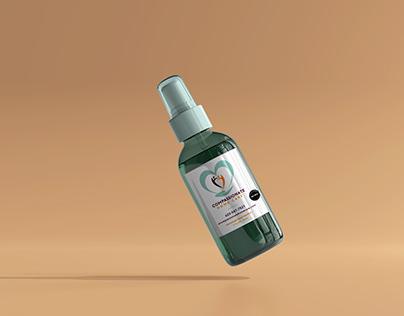 Hand Sanitizer Label/Packaging Design for Health Care