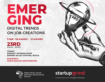 Ad flyer for Gambia Startup Grind
