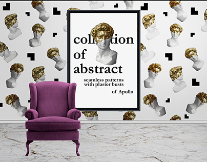 Patterns with plaster busts of Apollo