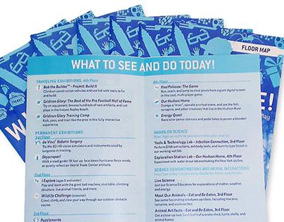Floor Map Brochure : Liberty Science Center