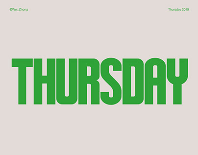 Thursday Typeface