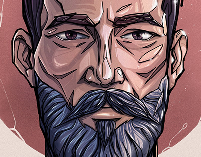 Bearded man - Full Process Video