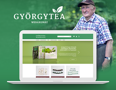Györgytea webshop redesign