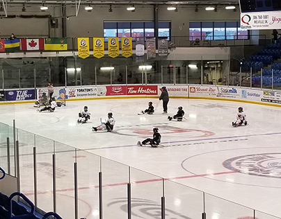 Sledge Hockey Love in Small Town Sask.
