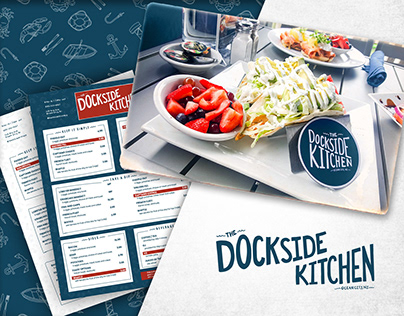 The Dockside Kitchen Visual Identity and Custom Font