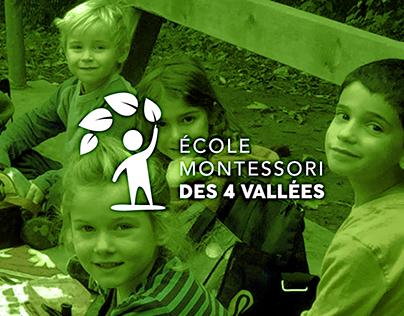 École Montessori des 4 Vallées - Branding & Web