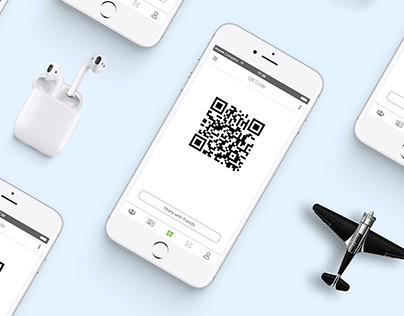 QR code Scan Share Page Mobile UI/UX Design