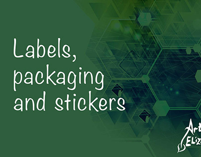 Labels, packaging, stickers and box design