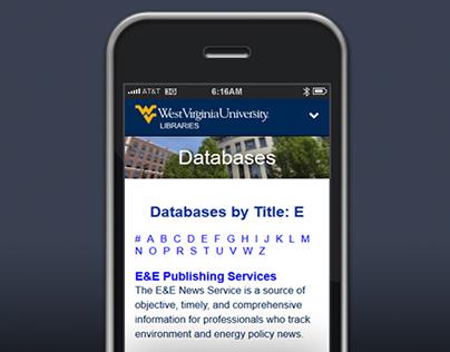 Database Responsive WebApp