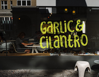 Garlic & Cilantro - Branding & Environmental Design