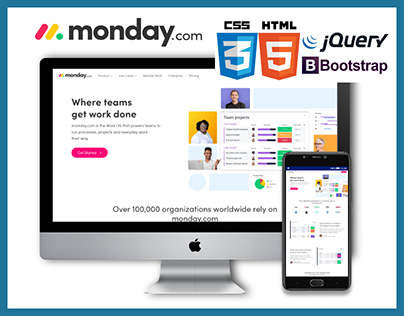 monday.com designed & front-end from scratch