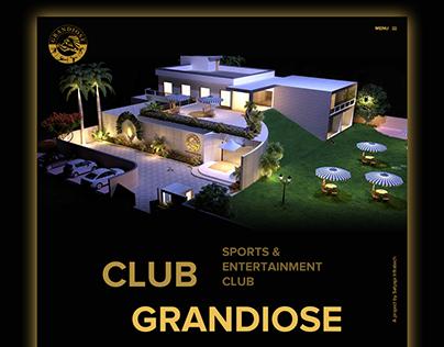 Club Grandiose Website Design