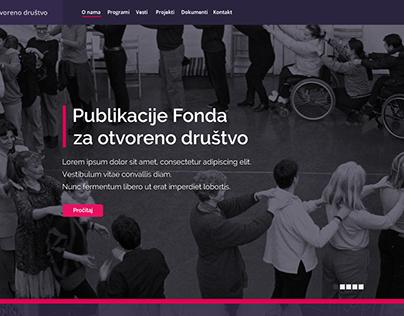 Web Layout Design - Fondacija za otvoreno drustvo