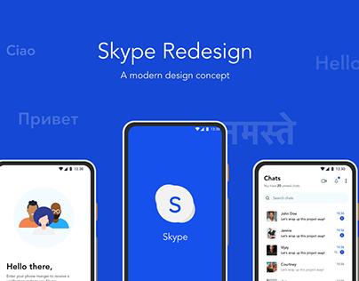 Skype Fresh Redesign
