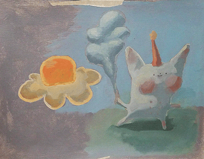 Egg Flower and Party Bunny Sketch
