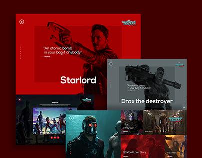 Guardians of the Galaxy Vol.2 Website concept