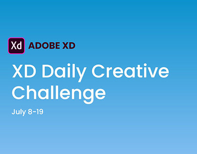 XD Daily Creative Challenge 2019 July 8-19