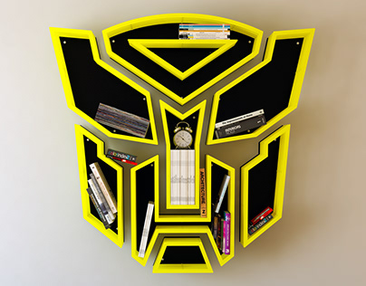 Transformers iron, shelf, design, bookshelf