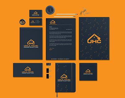 Construction company logo and full branding design