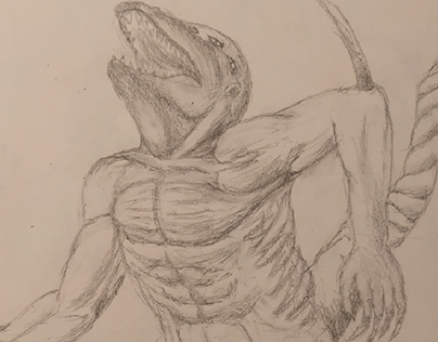 Monster. Pencil.