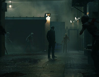 Zombie Alley (Keyframe Concept Art)