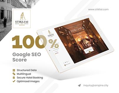 Website for 5-Star Hotel - Relais&Châteaux Stikliai