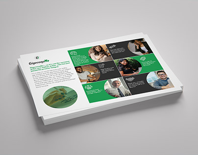Flyer for freelance recruitment firm