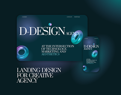 Landing Design Concept for Creative Agency