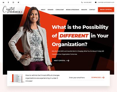 Crystal Kadakia - Website Design