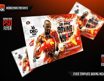 Flyer Template Boxing Night