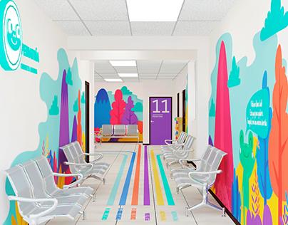 Enviromental graphics para niños aplicado en hospitales