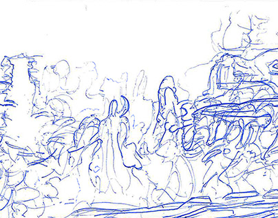 Robert Eustace: Grp1 'Finding Sanctuary' Drawings 2018