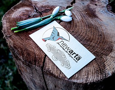 business card on wood mockup