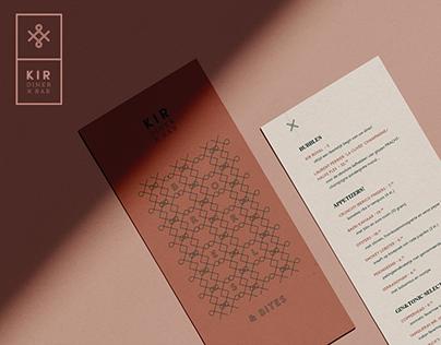 Rebranding KIR - Diner x Bar