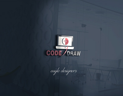Code Draw Web Developer Logo by Eagle Designers