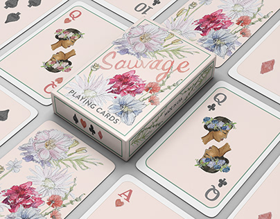 Sauvage Illustrated Playing Cards