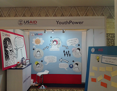 Booth design for a USAID project