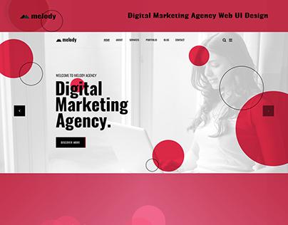 Digital Marketing Agency Web UI Design