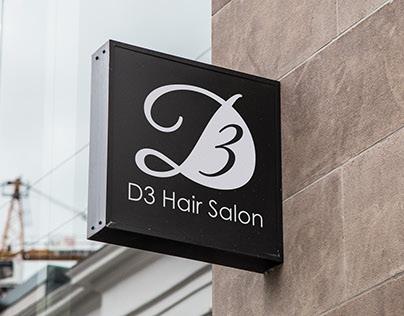 D3 Hair Salon - Logo Design and Branding