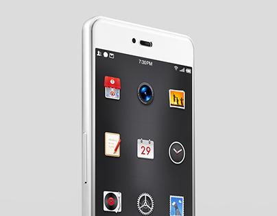 Smartisan T2 White Version Rendering