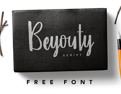 FREE FONT - Beyouty Script