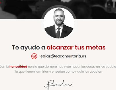 Diseño web de ED Consultoría